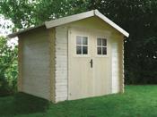 Abri jardin - 7.10 m² - 2.78 x 2.55 x 2.39 m - 28 mm.