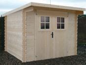 Abri jardin bois - 6,48 m² - 2.40 x 2.66 x 1.96 m - 28 mm.