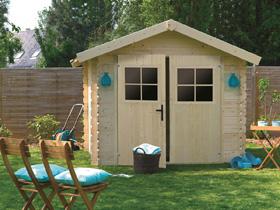 Abri jardin - 7.05 m² - 3.44 x 2.05 x 2.32 m m - 28 mm.