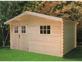 Abris jardin - 13,78 m² - 4.11 x 3.35 x 2.32 m - 28 mm.