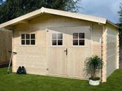 Abri jardin bois - 19,72 m² - 4.64 x 4.25 x 2,32 m - 28 mm