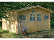 Abri jardin bois -15.53 m² -4.63 x 3.35 x 2.32 m - 34mm