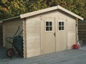 Abri jardin - 9.54 m² - 3.46 x 2.75 x 2.18 m - 28 mm