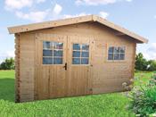 Abri jardin - 13.78 m² - 4.10 x 3.35 x 2.30 m - 28 mm.
