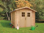Abri de jardin - 7,52 m² - 2.94 x 2.45 x 2,08 m - 19 mm.