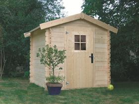 Abri jardin bois - 4.97 m� - 2.31 x 2.15 x 2.18 m - 28 mm