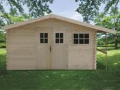 Abri jardin - 15,71 m² - 4.69 x 3.35 x 2.32 m - 28 mm.