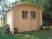 """Abri jardin bois """"Dainville"""" - 8.43 m² - 3.20 x 2.63 x 2.28 m - 28 mm"""