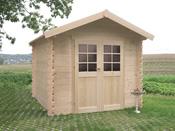 """Abri jardin bois """"Sedan"""" - 7.65 m² - 2.78 x 2.75 x 2.39 m - 28 mm"""