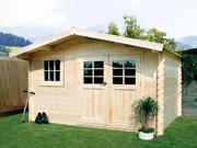 Abri de jardin - 19,72 m² - 4.64 x 4.25 x 2,39 m - 28 mm.