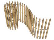 Ganivelles pour clotures en chataigner - 5 x 1 m