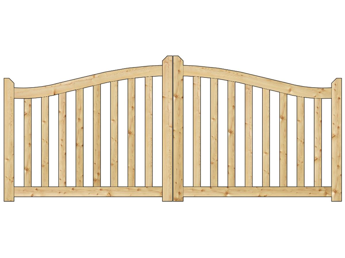 Bien choisir un portail bois pas cher battants conseils for Prix portail jardin