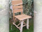 Chaise jardin - Bois lasuré - Lot de 2