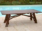 Table de jardin - dimensions : L 220 x P 85 x H 73 cm