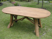 Table de jardin - dimensions : L 220 x P 100 x H 73 cm
