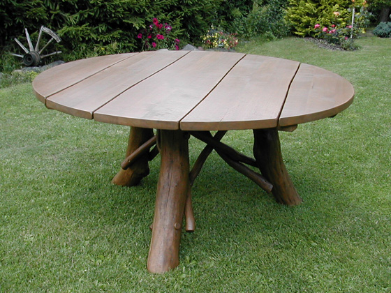 Table de jardin - diamètre : 100 cm