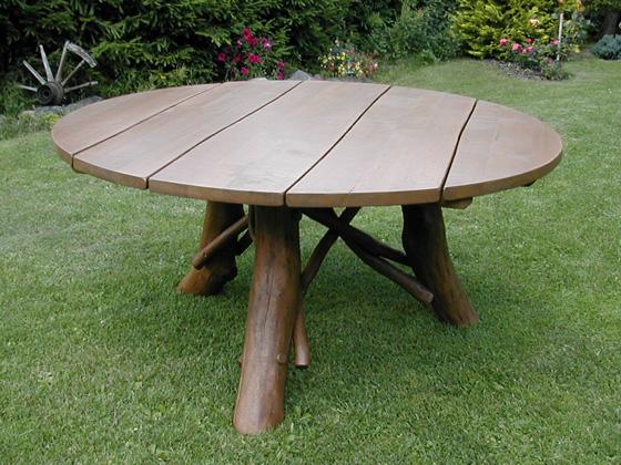 Table de jardin - diamètre : 120 cm