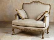 """Fauteuil tissu """"Love Seat"""" - 106 x 80 x  106 cm - Ecru"""
