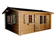 "Abri jardin bois ""Elista"" - 19,82 m² - 5.00 x 4.00 - 34 mm"