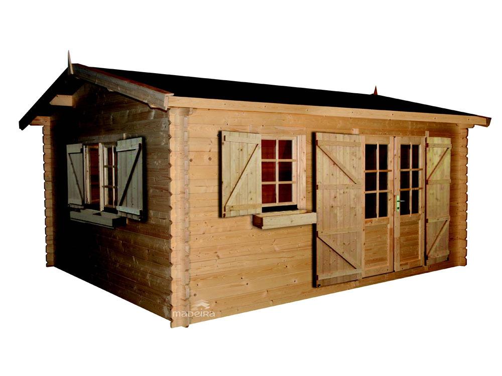 Abri jardin bois elista 19 82 m x 34 mm for Comconstruction d un abri de jardin