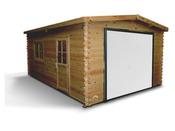 "Garage bois ""Murava"" - 22.34 m² - 3.99 x 5.60 x 2.66 m - 34 mm"