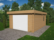 Garage bois - 23.76 m² - 4.32 x 5.50  x 2.56 m - 34 mm