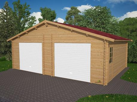 Garage bois - 43.65 m² - 7.30 x 5.98 m - 43 mm