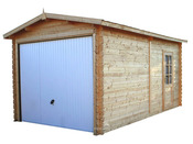 Garage bois - 15.49 m² - 2.98 x 5.20 x 2.66 m - 28 mm