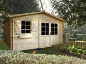 """Abri jardin bois """" Charmey """" - 16m² - 4.06 x 4.18 x 2.47 m - 28 mm"""