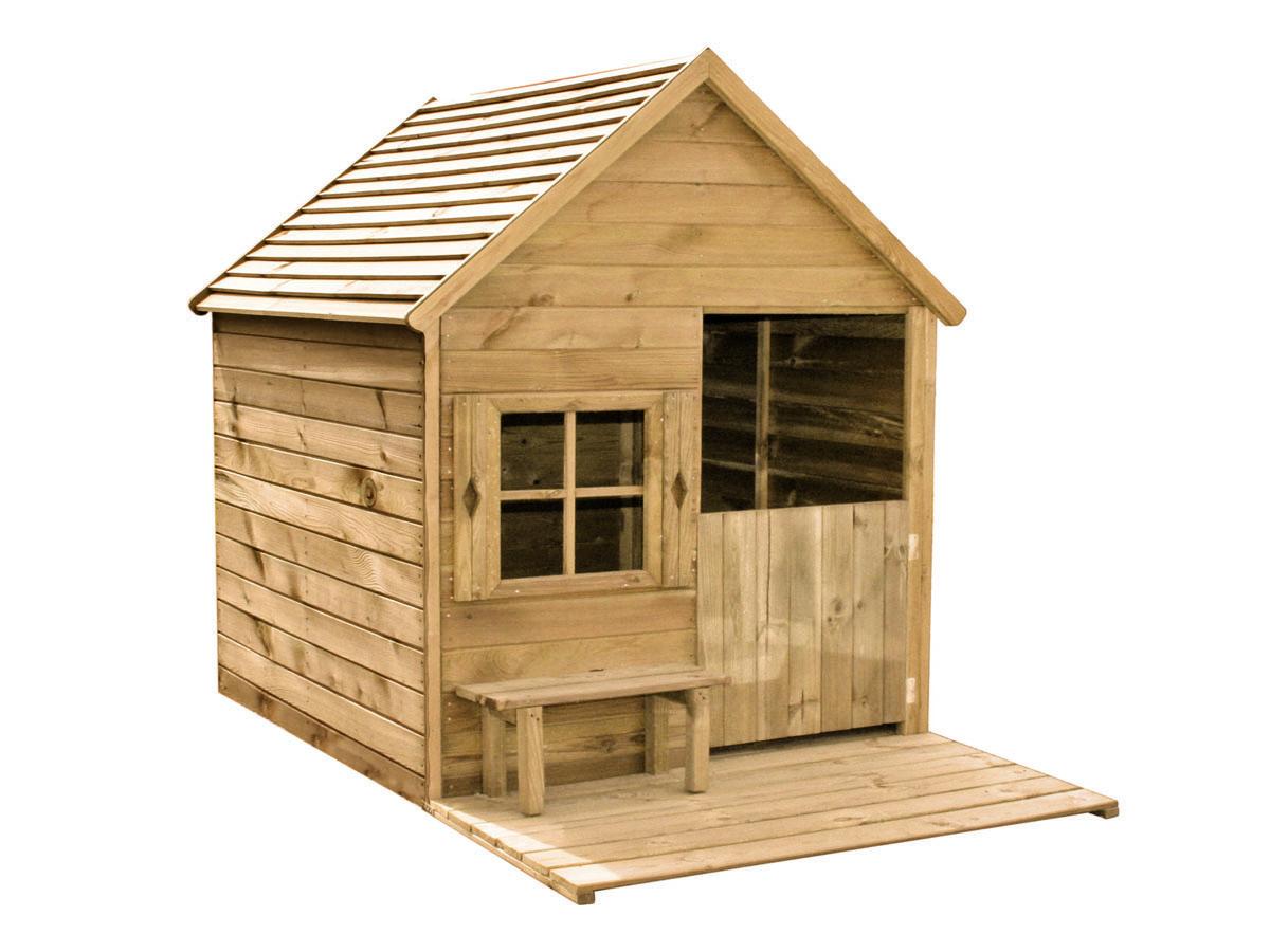 cabane pour enfants heidi 123 x 164 x 158 cm 82036. Black Bedroom Furniture Sets. Home Design Ideas