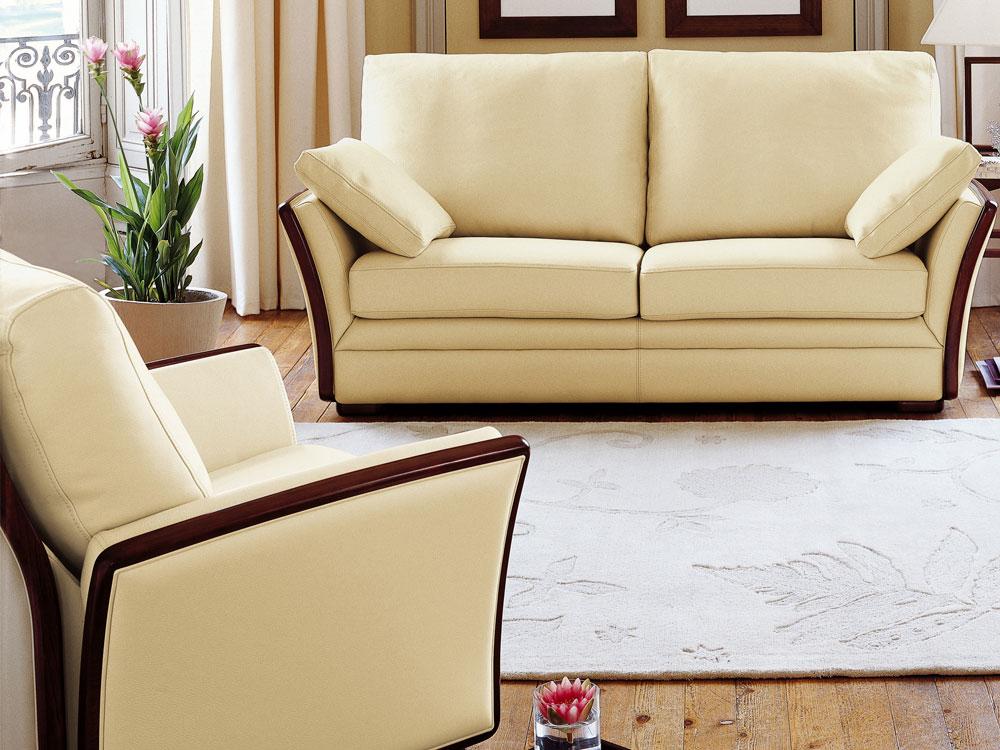 Canap cuir de vachette camille 2 5 places convertible 31498 - Canape cuir classique ...