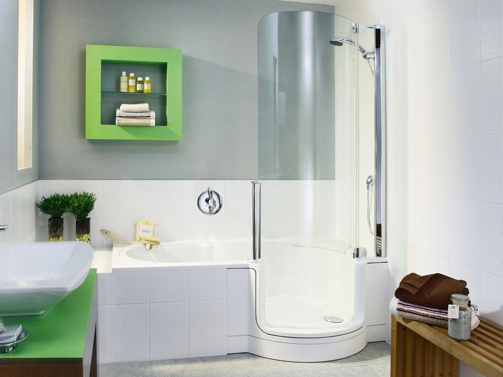 baignoire combin e une douche avec porte 1 place 160cm 32116 32117. Black Bedroom Furniture Sets. Home Design Ideas