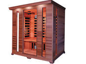 "Cabine de sauna Infrarouge ""Luxe"" 4 places 190 x 175 x 120 cm"