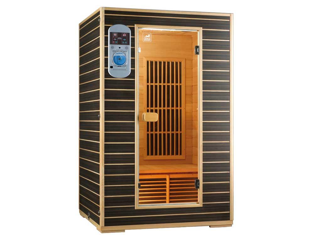 cabine de sauna infrarouge star 22 2 places 120 x 105 x. Black Bedroom Furniture Sets. Home Design Ideas