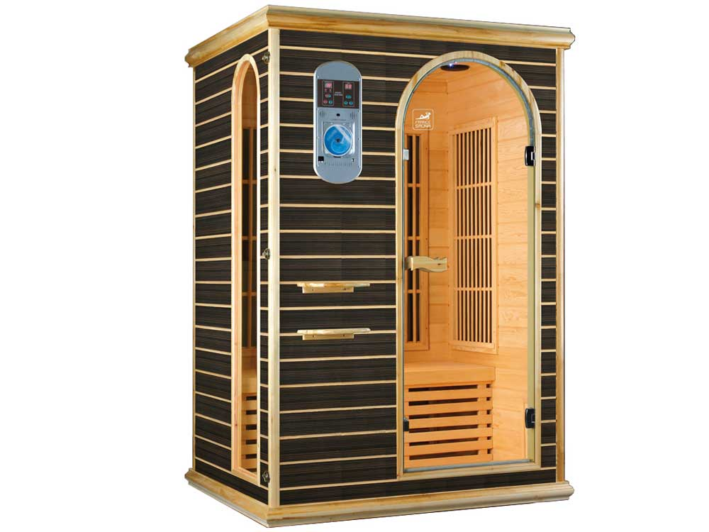 cabine de sauna infrarouge star 2b 2 places 125 x 105 x. Black Bedroom Furniture Sets. Home Design Ideas