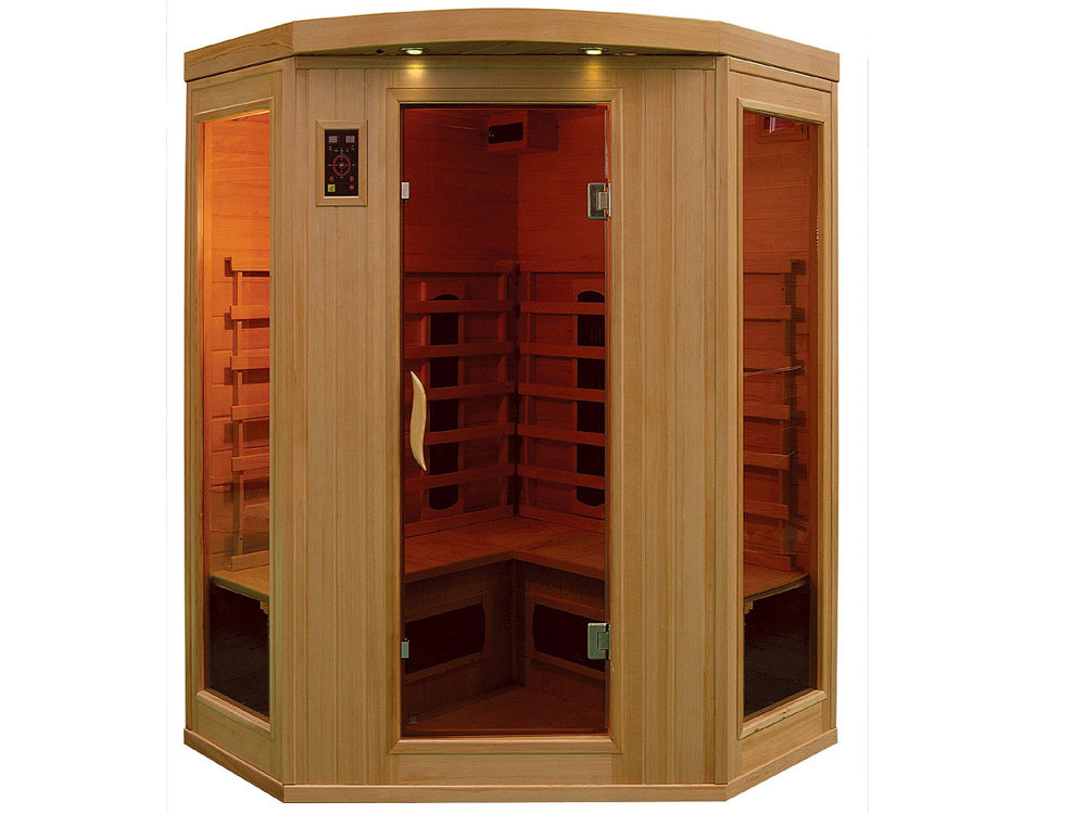 Cabine de sauna infrarouge apollon 2 3 places 37991 37994 - Avis sauna infrarouge ...