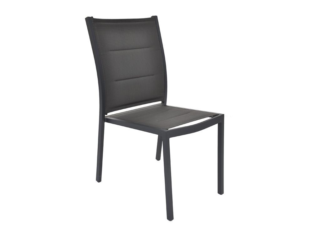 Chaise jardin empilable en aluminium boston 60 x 47 x for Chaise 87 cm