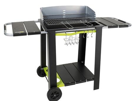 """Barbecue à charbon de bois """"Caldeira"""" - 5 hauteurs de cuisson - Surface 56 x 39 cm"""