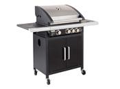 "Barbecue à gaz ""Fidgi"" - 3 brûleurs inox + Side - 11,4 Kw"