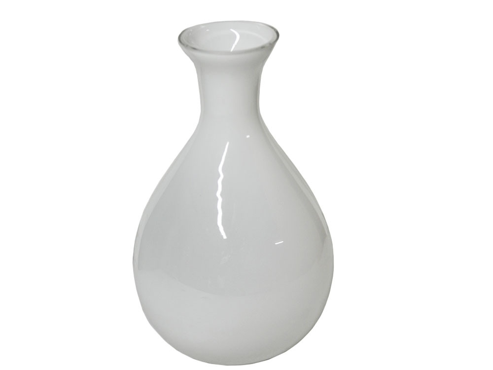 objet de d coration vase en verre coloris blanc 37933. Black Bedroom Furniture Sets. Home Design Ideas