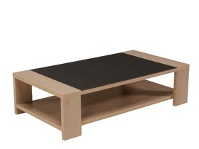 Table Basse Rectangulaire Milmo Mdf M Lamine Gris