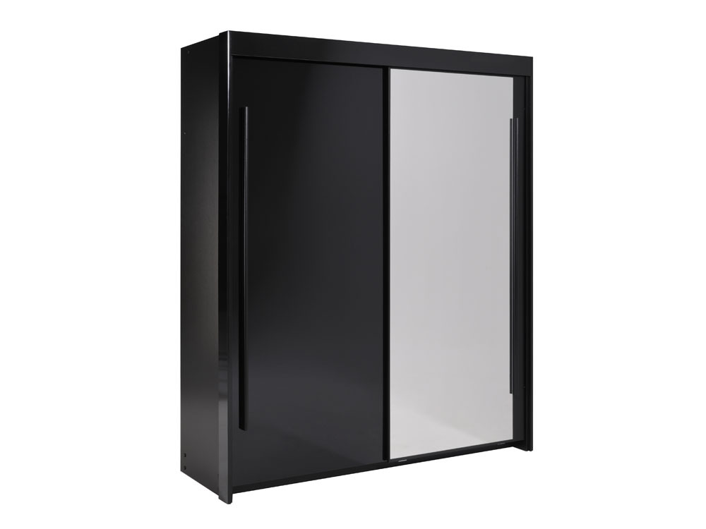 armoire avec porte miroir boreal ch ne blond l 155 x h. Black Bedroom Furniture Sets. Home Design Ideas