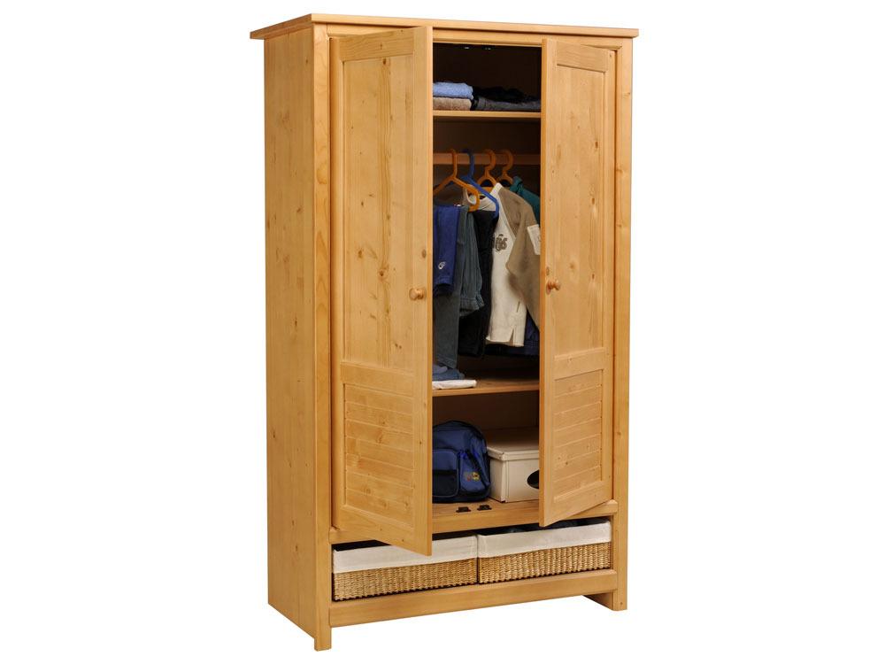 armoire solyste 2 portes niche de rangement 110 x. Black Bedroom Furniture Sets. Home Design Ideas