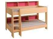 lit combin bureau doll en panneaux de particules l 205 x l 116 x h 108 cm 43585. Black Bedroom Furniture Sets. Home Design Ideas