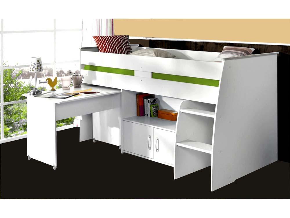 Lit combiné Reverse - 206 x 110 x 114/183 cm - Blanc