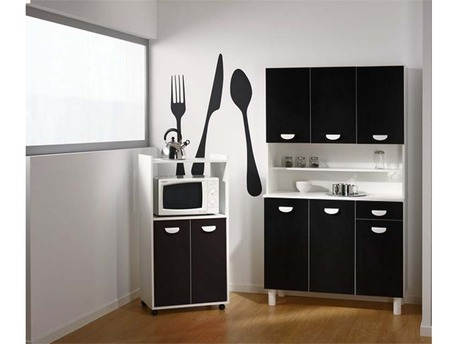 "Buffet de cuisine ""Billy"" Noir / Blanc"