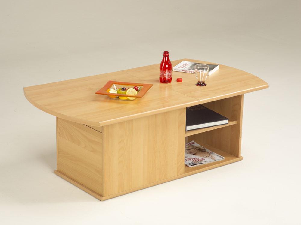 Table basse moulin rectangulaire en panneaux de - Table basse ouvrable ...
