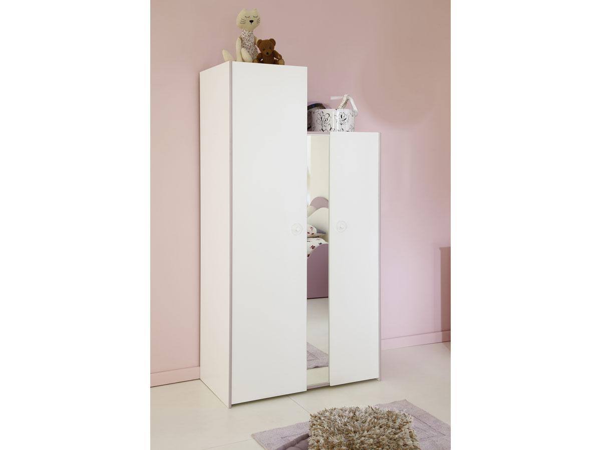 Armoire enfant Butterfly - 181 x 94 x 50 cm - 2 portes