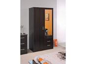 """Amoire 2 portes """"Soft"""" - 90 x 50 x 180 cm - Coloris café"""