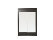 """Armoire 2 portes """"Soft"""" - 156 x 61 x 217 cm - Coloris café"""